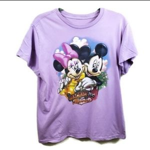 Disney Minnie Mickey Couple Love Graphic Tee